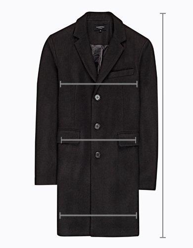Plaid longline coat