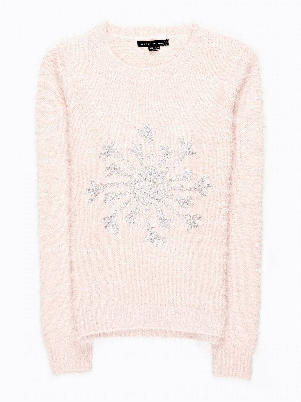 FLUFFY JUMPER WITH METALLIC EMBROIDERY