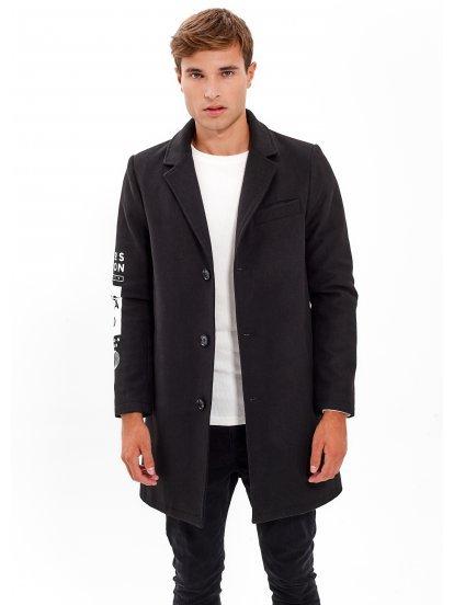 Długi płaszcz z nadrukiem
