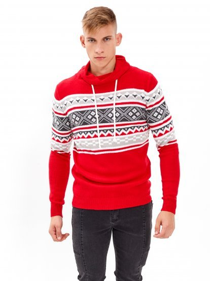 HIGH NECK PATTERNED JUMPER