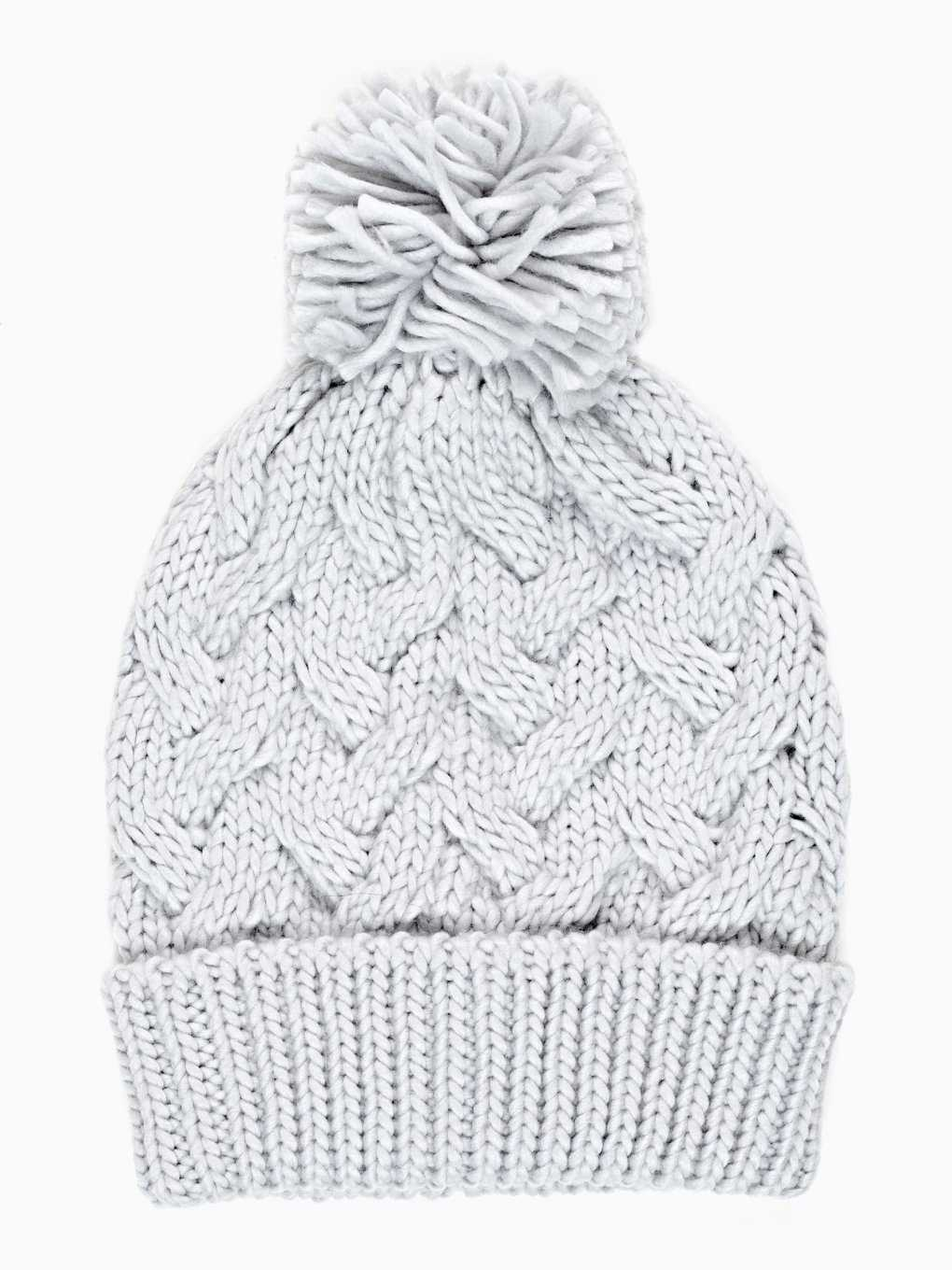 KNITTED BEANIE WITH POM