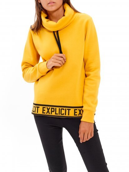 TURTLENECK SWEATSHIRT WITH PRINT