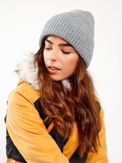 Jednoduchá žebrovaná čepice
