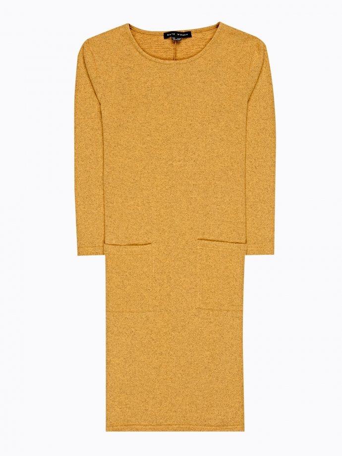 Úpletové šaty s kapsami