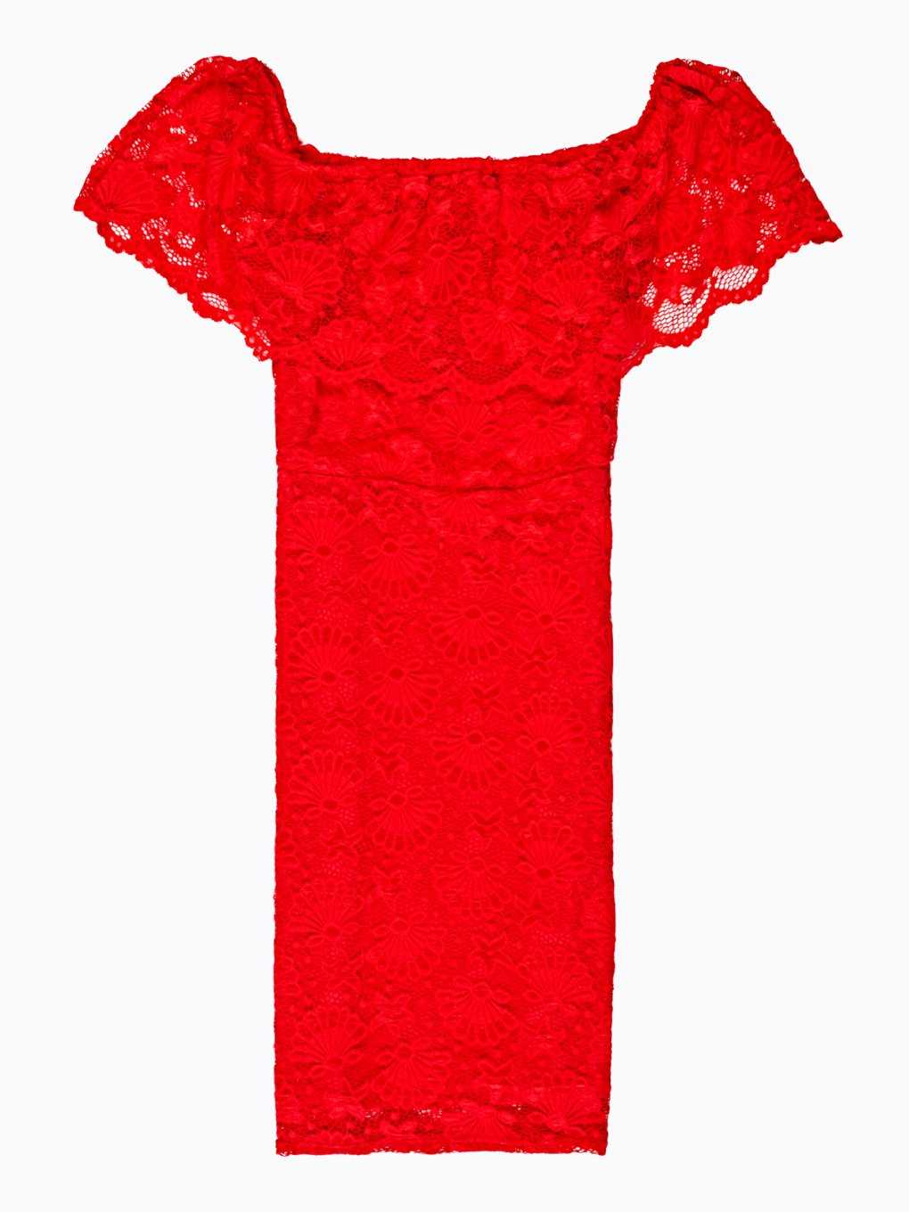 OFF-THE-SHOULDER BODYCON LACE DRESS