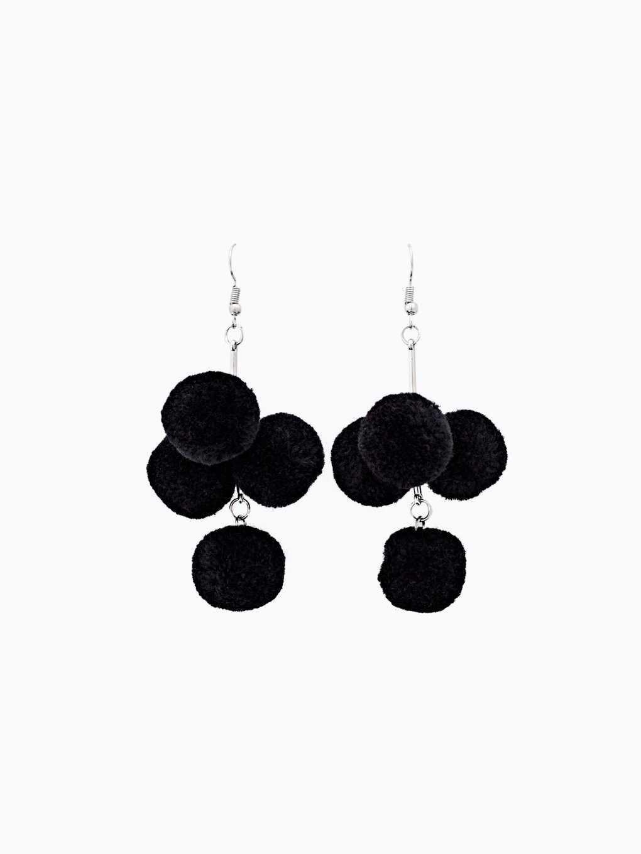 Mini pom pom earrings