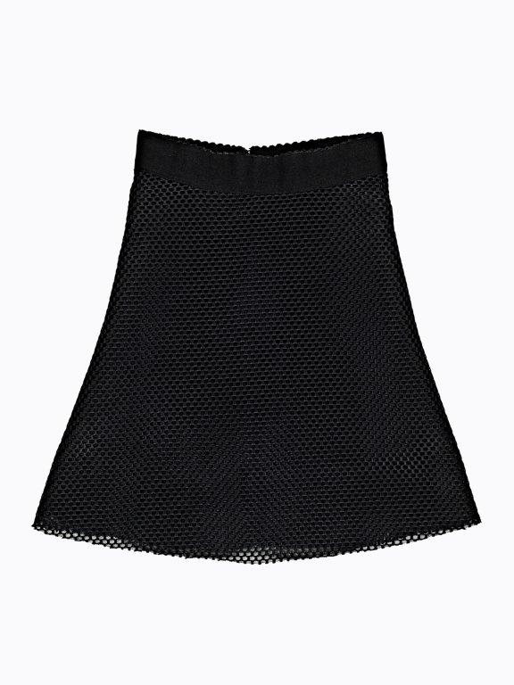 Kombinovaná áčková sukňa