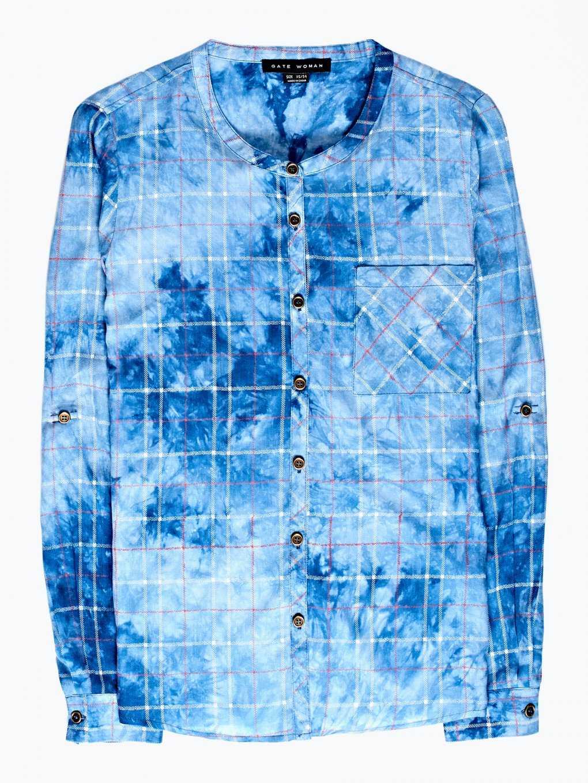 Checked viscose blouse