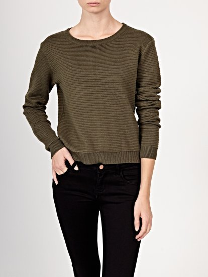 Structured jumper with back zipper