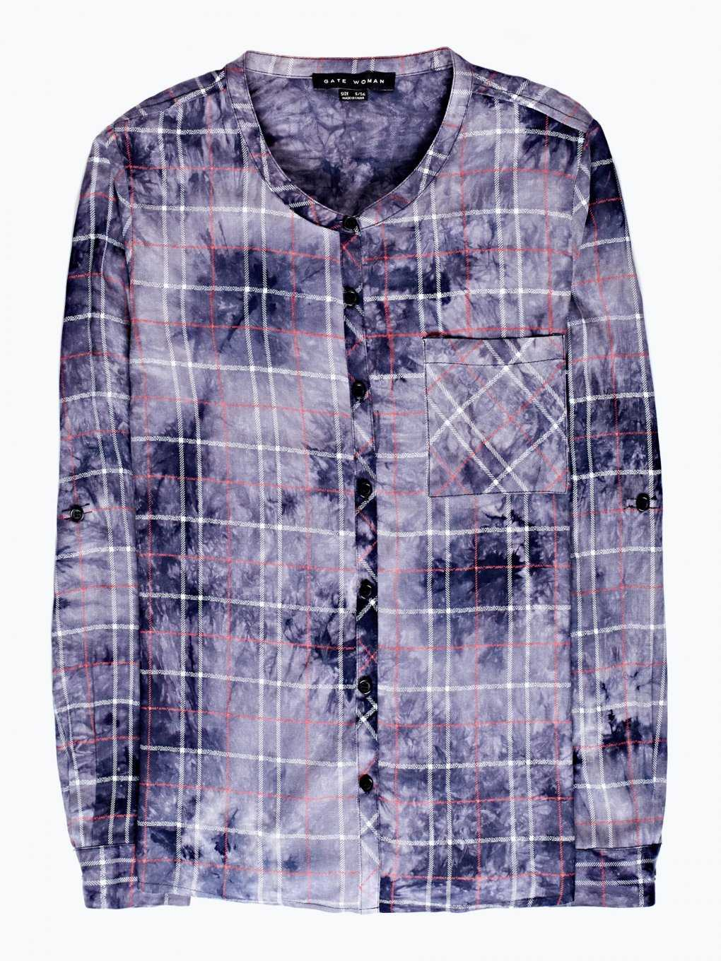 Checked viscose blouse