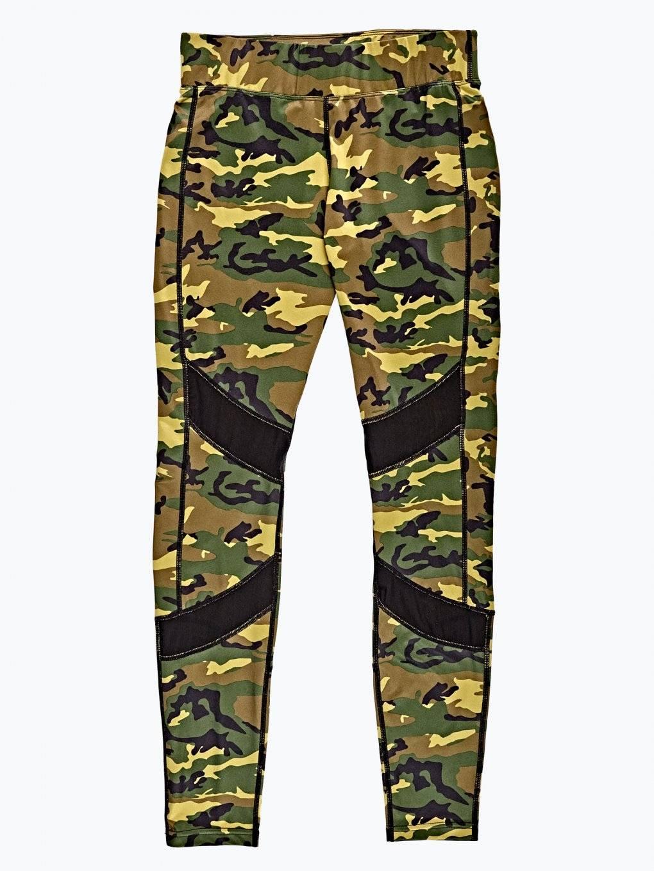 Camo print sports tights