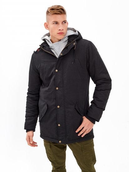 PILE LINED PADDED PARKA