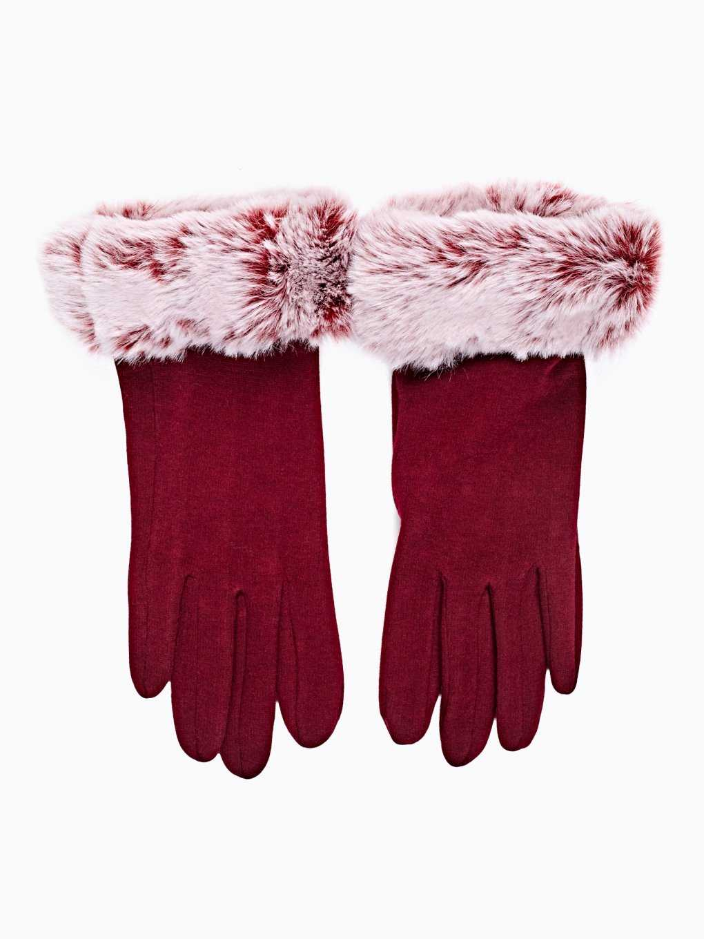 GLOVES WITH FAUX FUR DETAIL