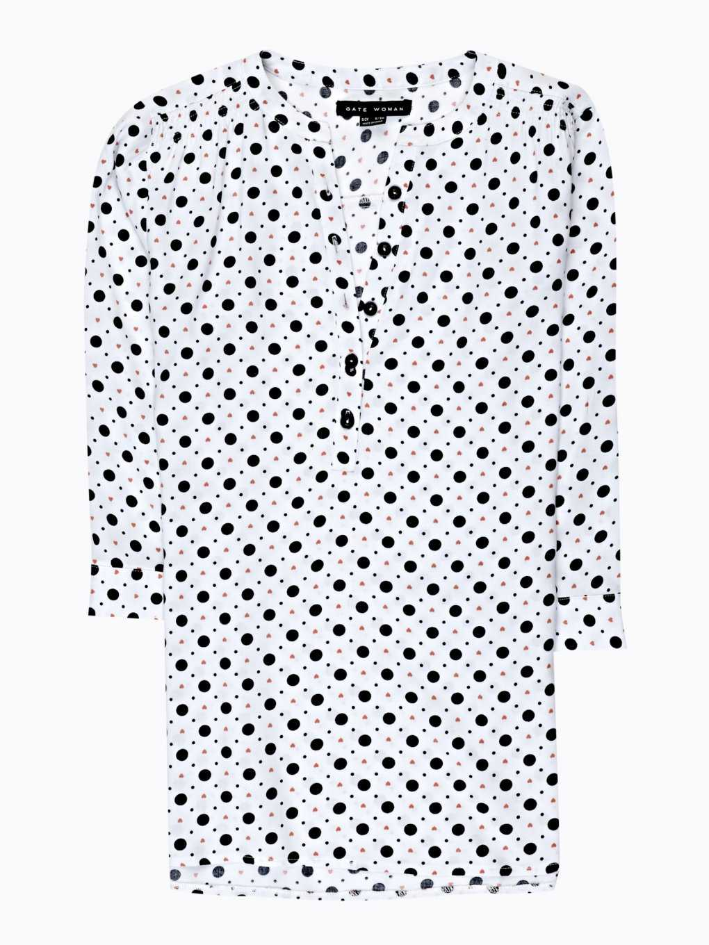 Polka dot viscose blouse