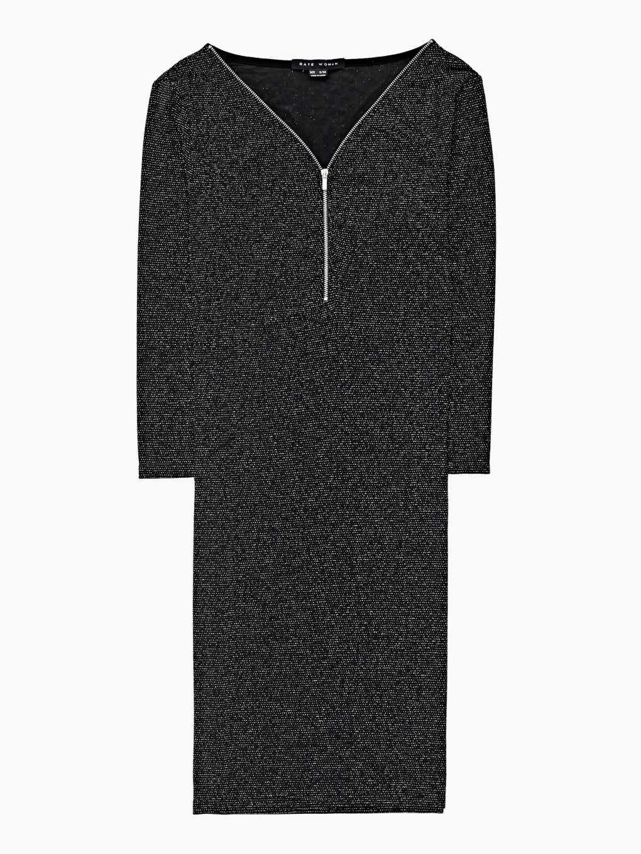 Trblietavé puzdrové šaty so zipsom