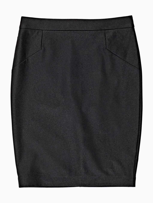 Puzdrová sukňa z imitácie kože