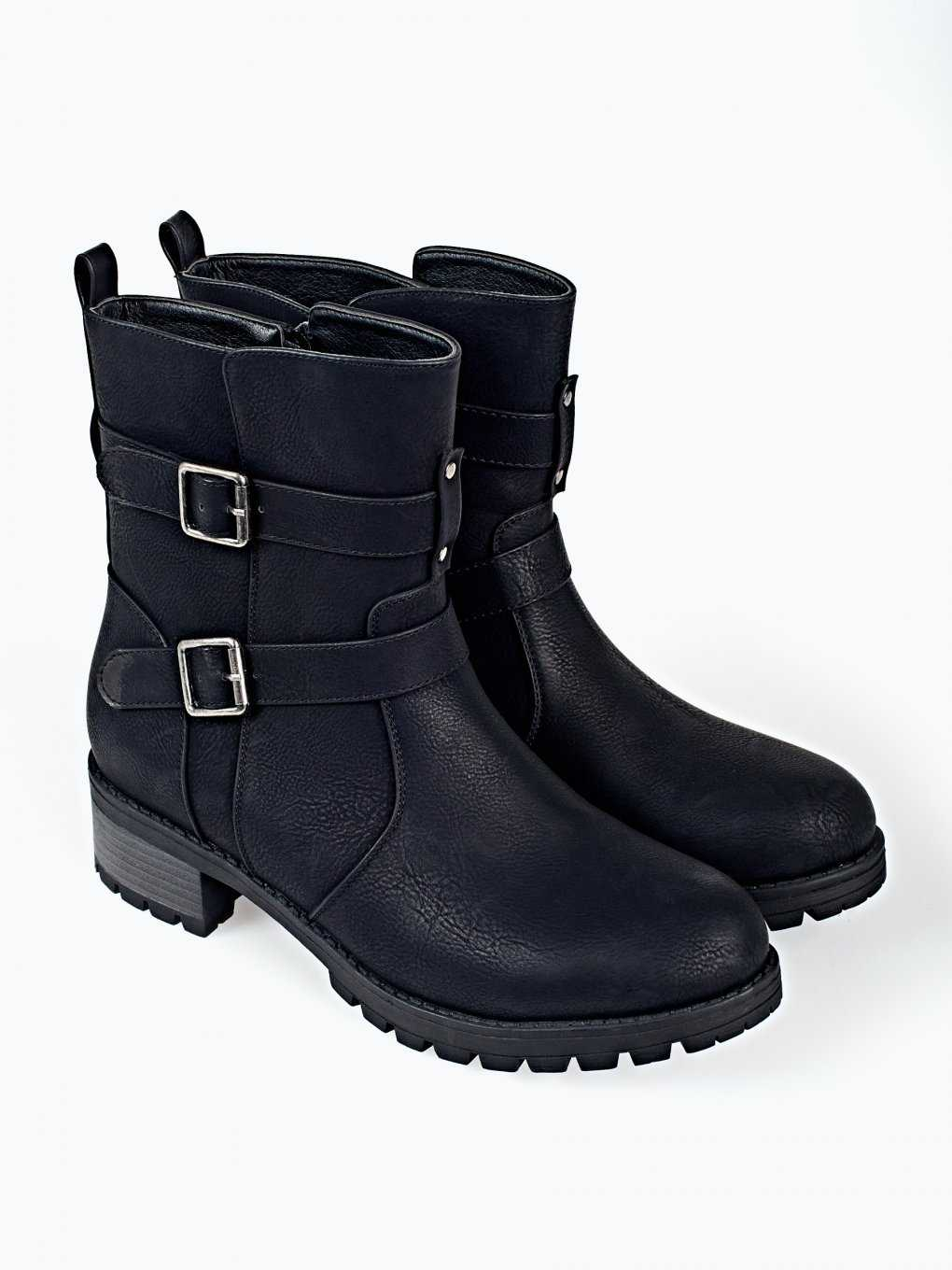 Ankle boots with buckle details