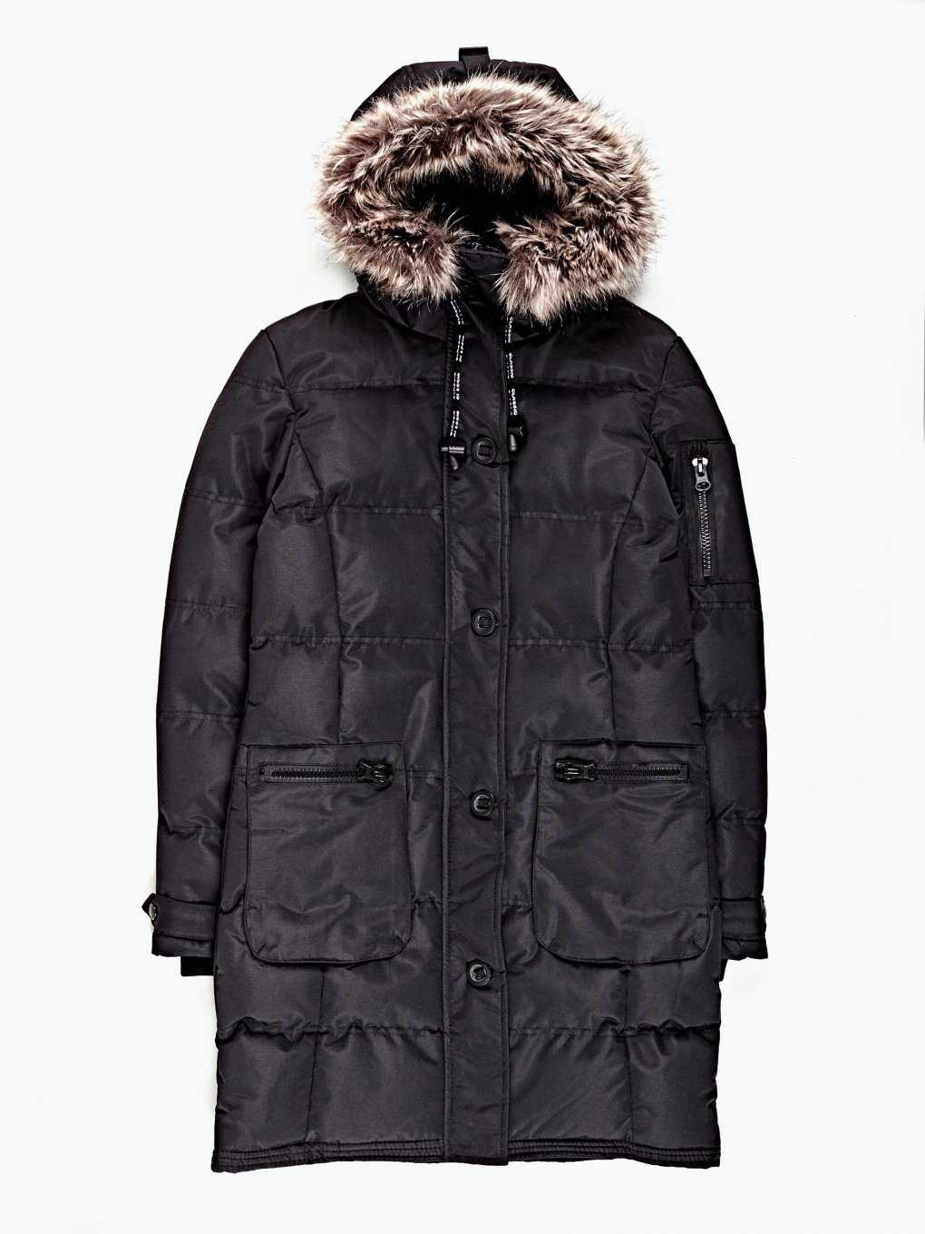 Prolonged padded jacket with hood