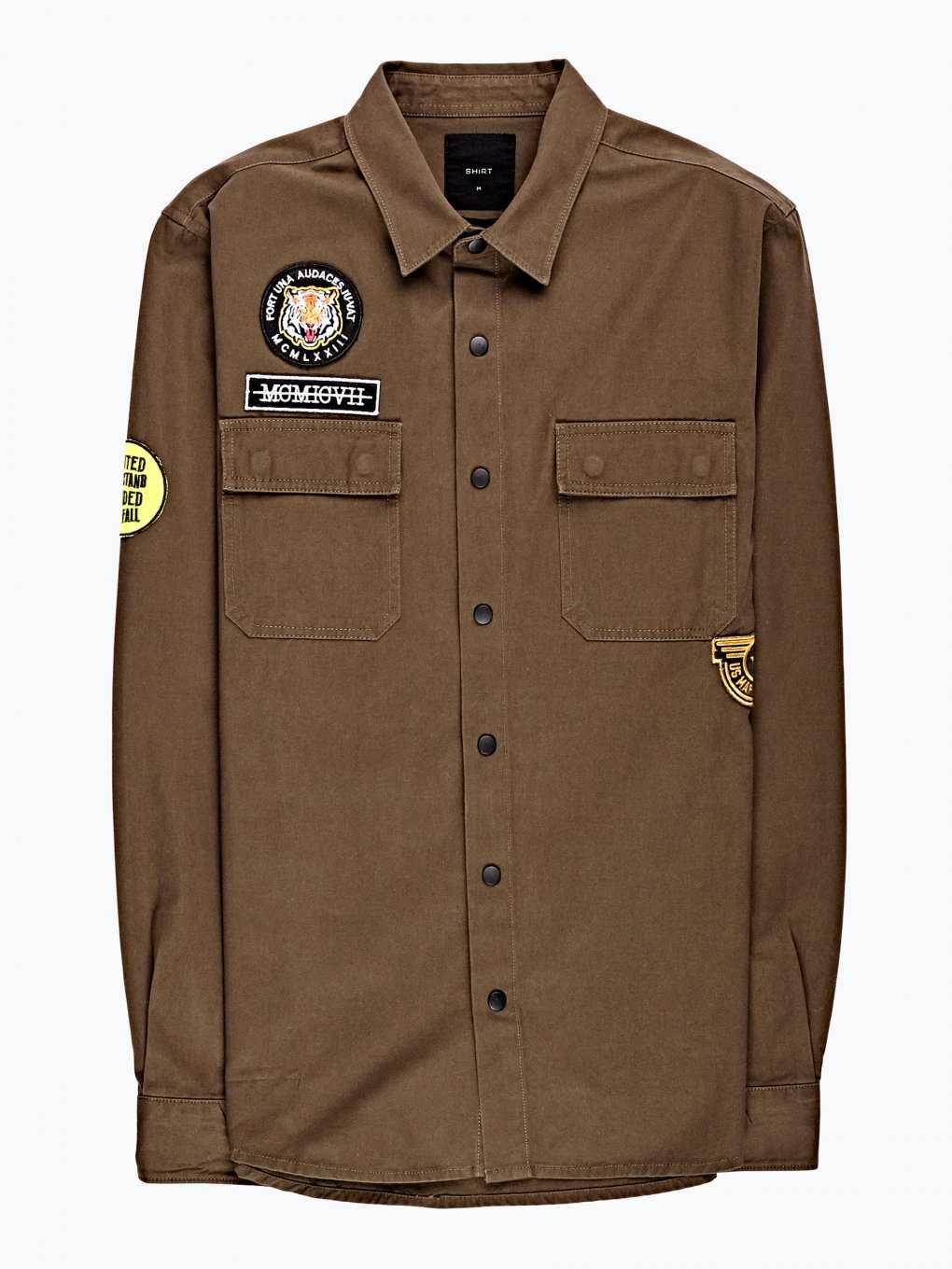 Cotton shirt with patches