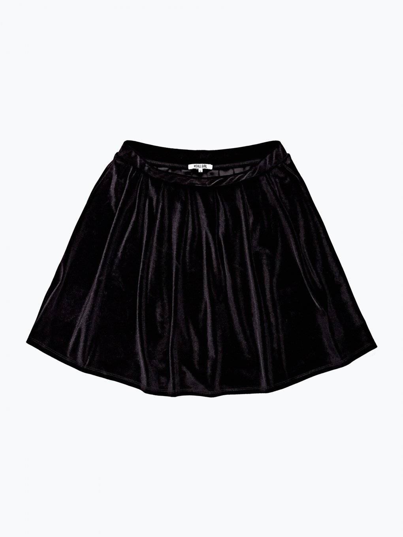 Sametová áčková sukně