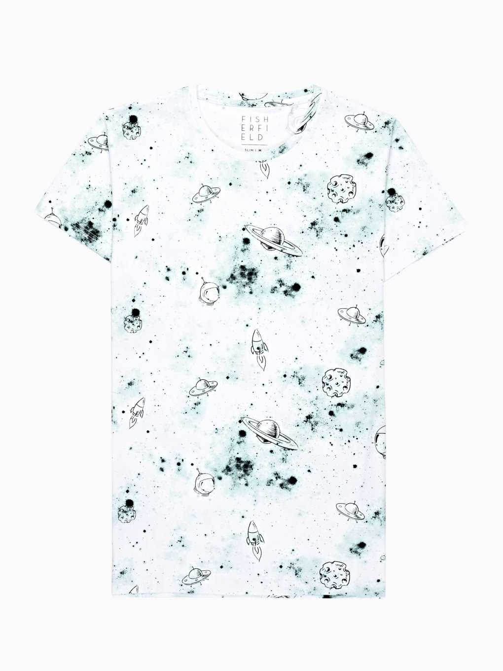 SPACE JOURNEY PRINT T-SHIRT