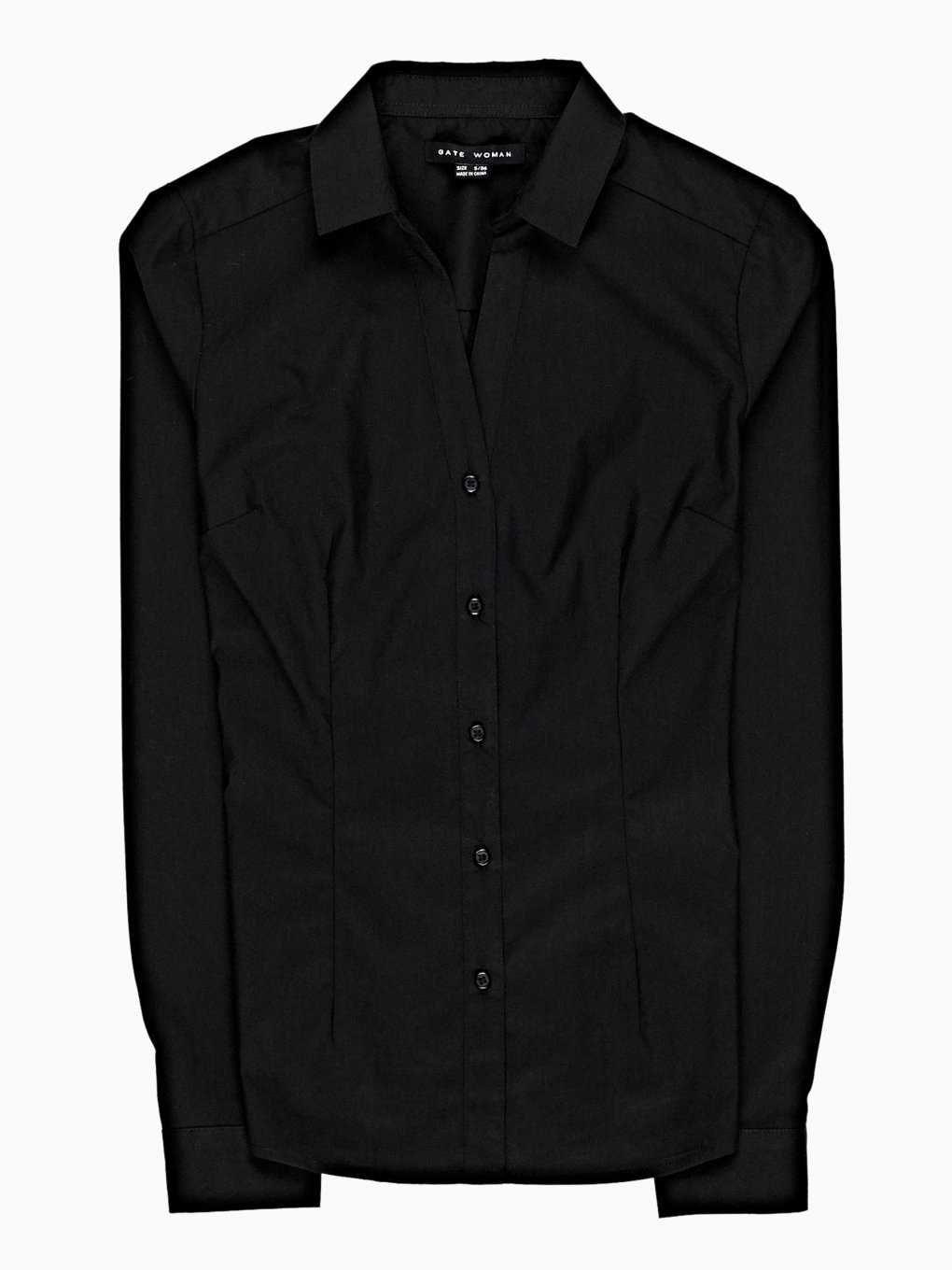 Basic stretch slim shirt