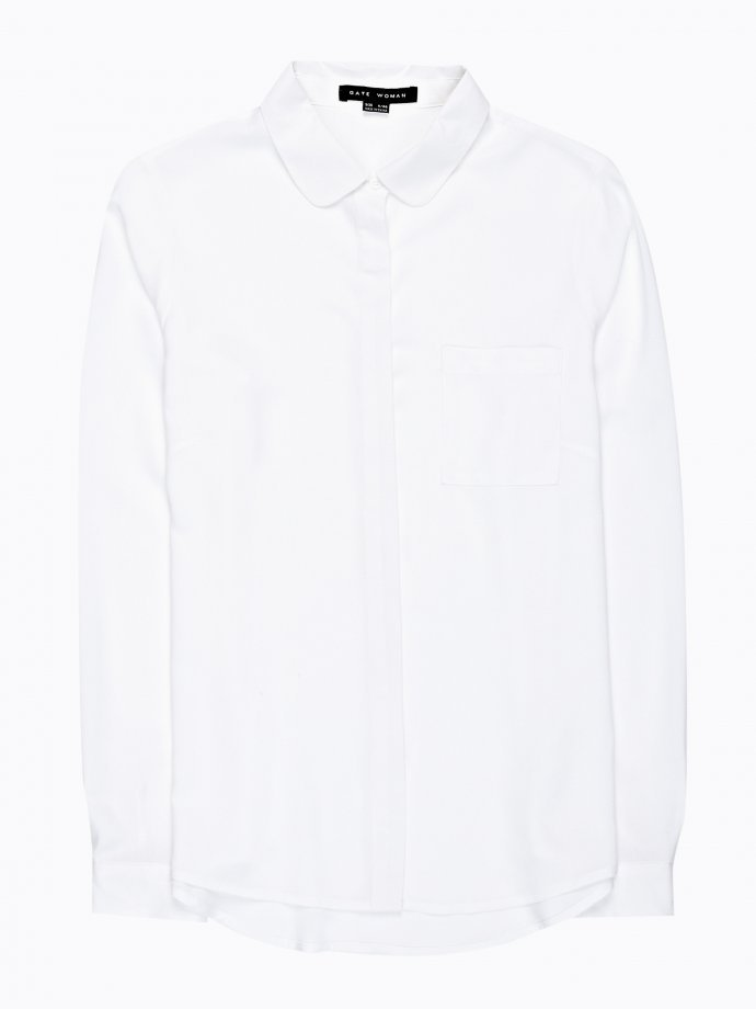 Viscose shirt with chest pocket