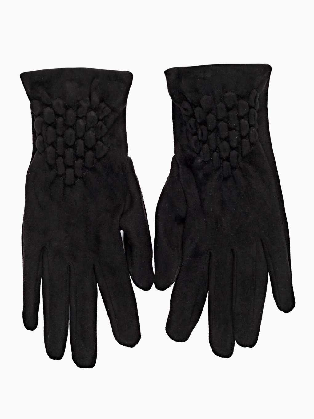 Gloves with quilted detail