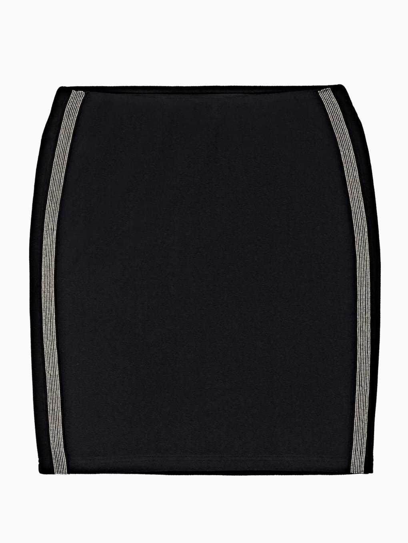 Ołówkowa spódnica mini z prążkami po bokach
