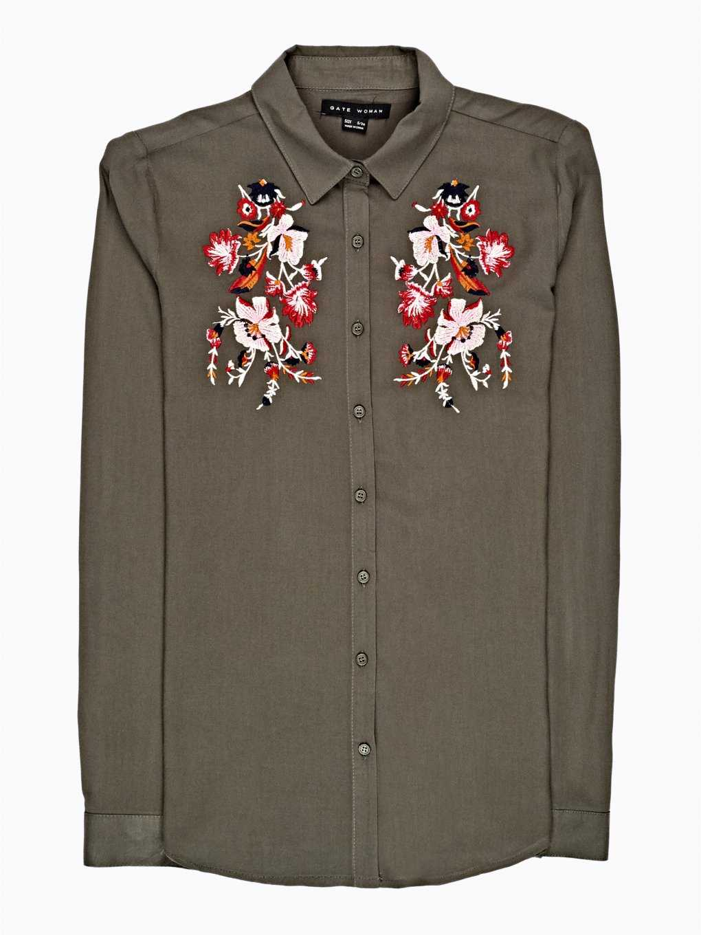 Viscose shirt with emroidery