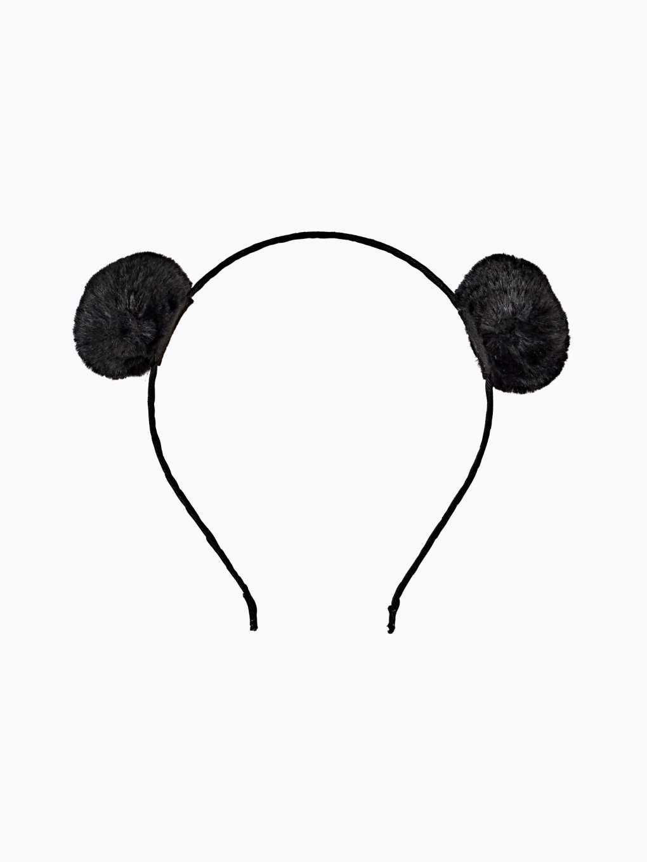 Opaska do włosów z pomponami