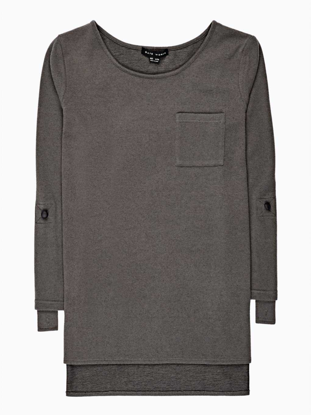 LONGLINE TOP WITH POCKET
