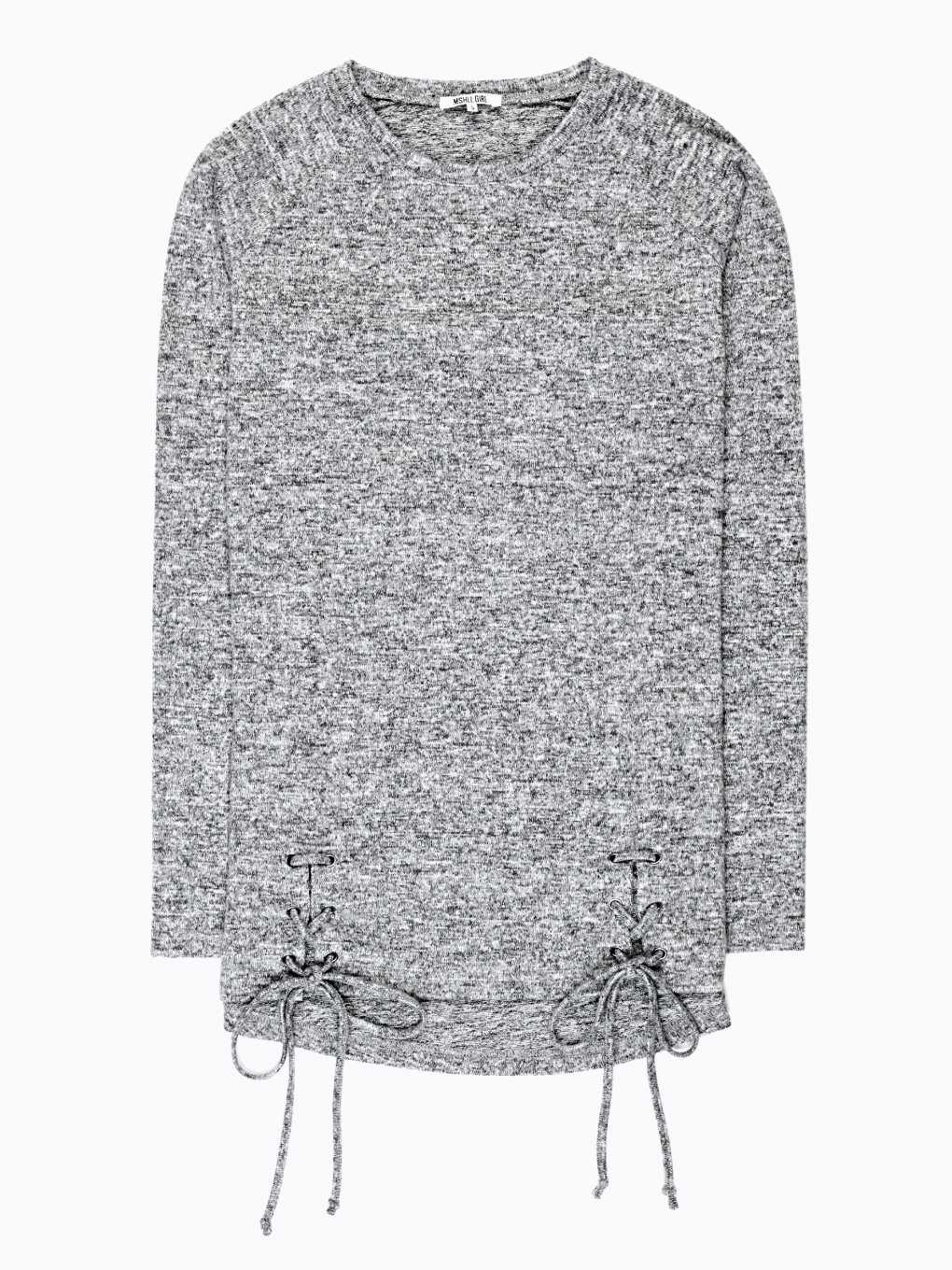 MARLED T-SHIRT WITH LACING DETAIL
