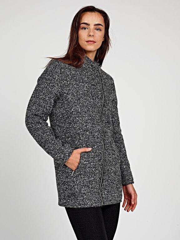 Marled plain coat