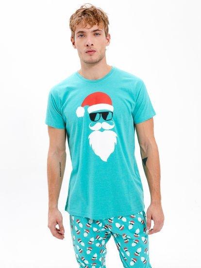 Pyžamové tričko s vianočným motívom