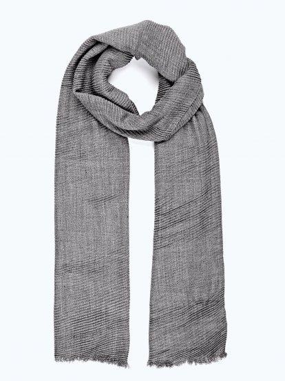 Pleated scarf
