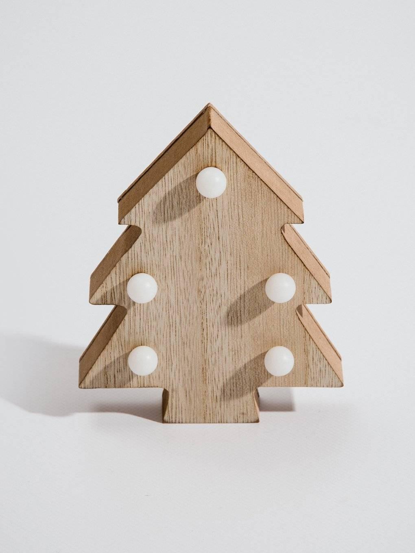 Lampa drevený stromček