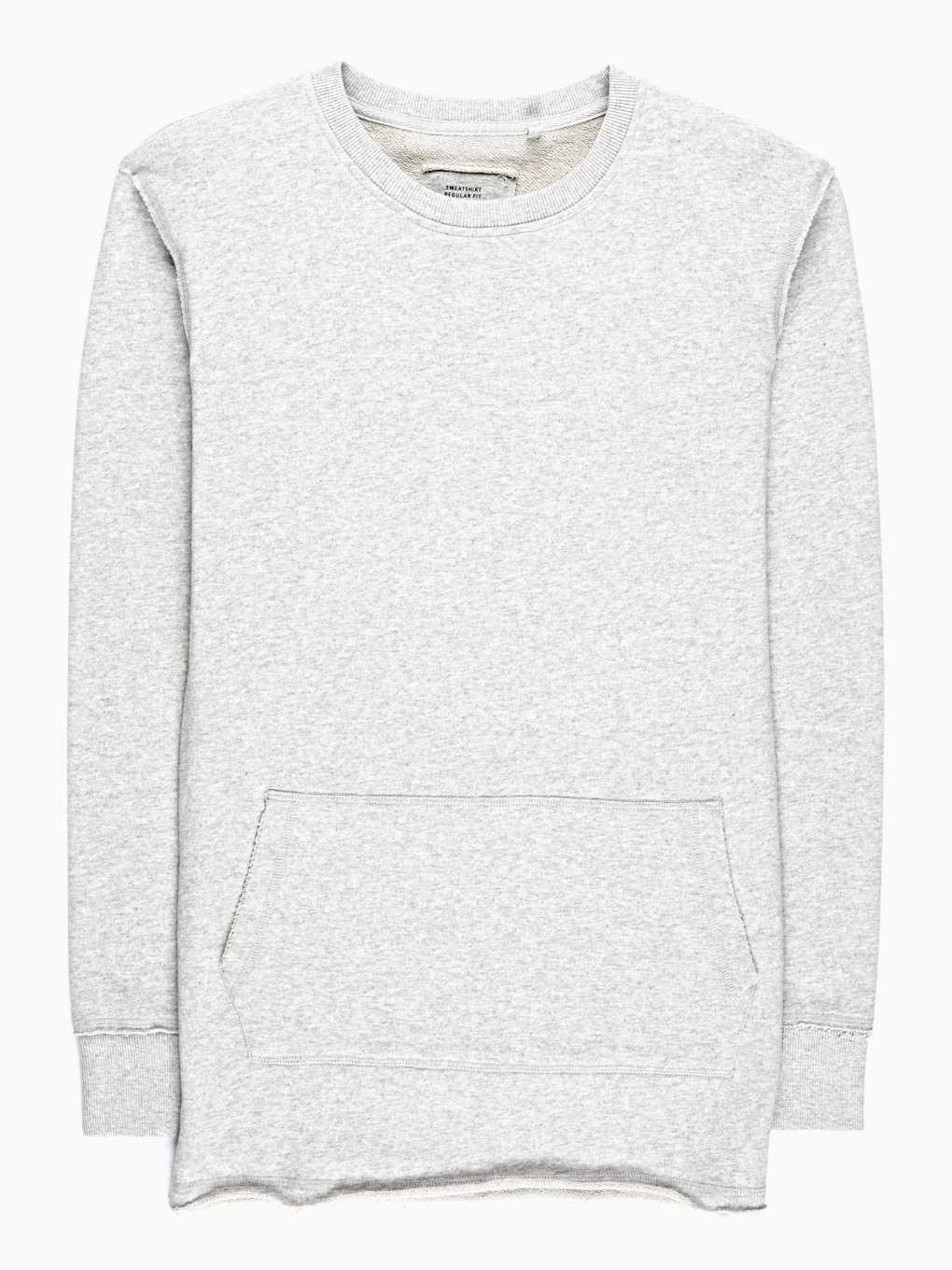 SWEATSHIRT WITH RAW EDGES