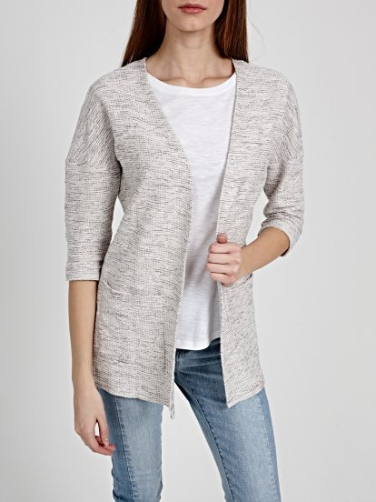 PROLONGED CARDIGAN WITH POCKETS