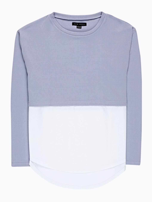 Oversized kombinowany sweter