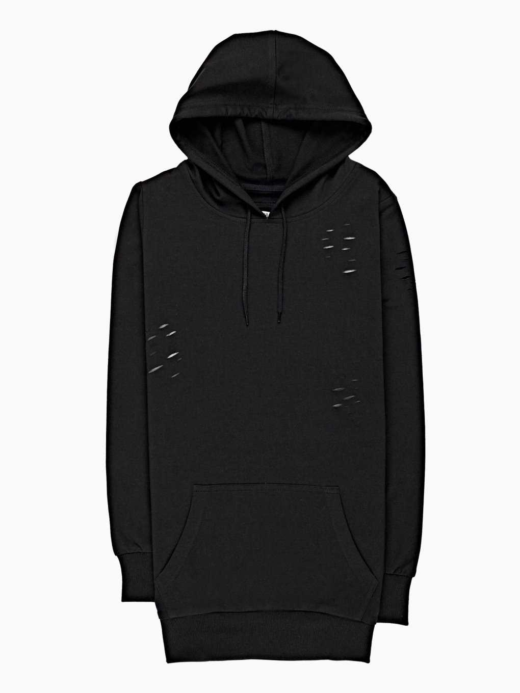 PROLONGED DISTRESSED HOODIE