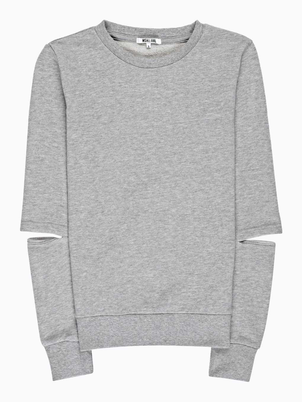 SWEATSHIRT WITH CUT ELBOW