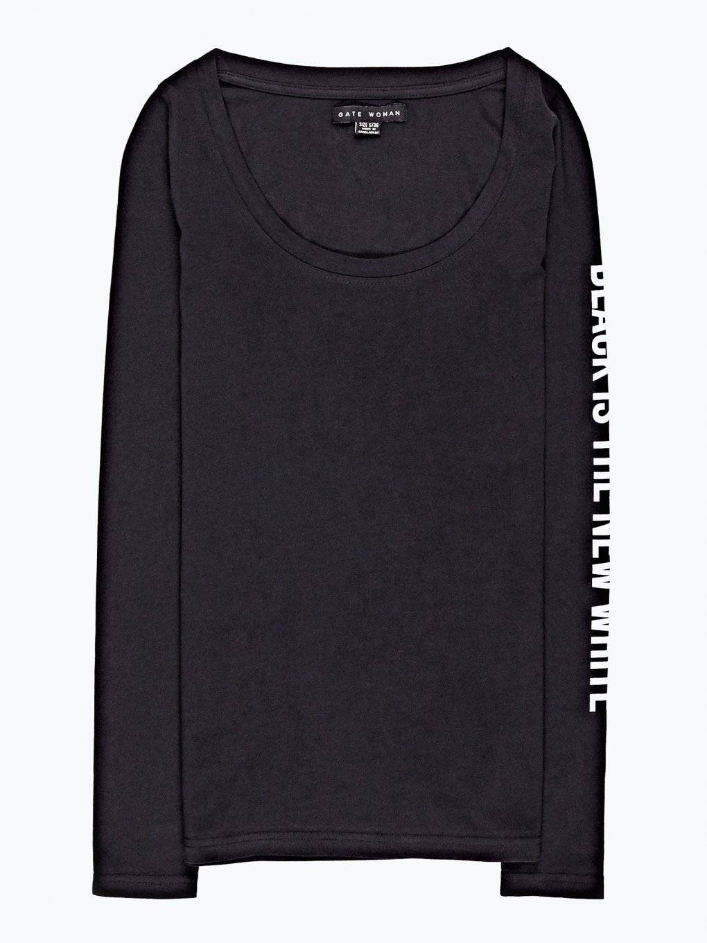 T-shirt with print on sleeve