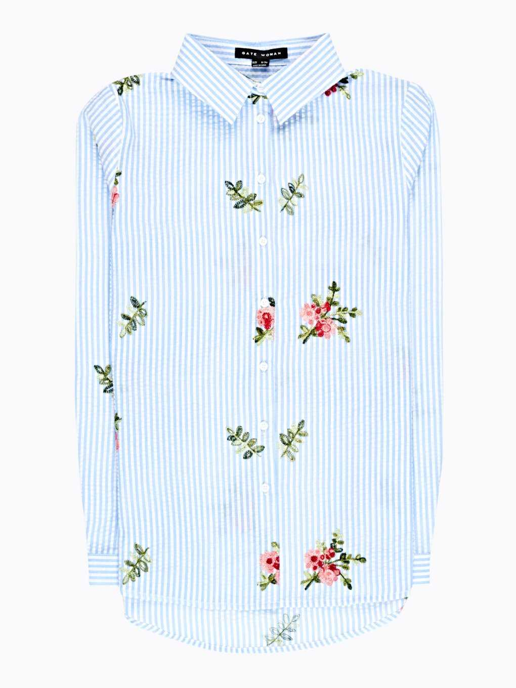STRIPED SHIRT WITH EMROIDERY