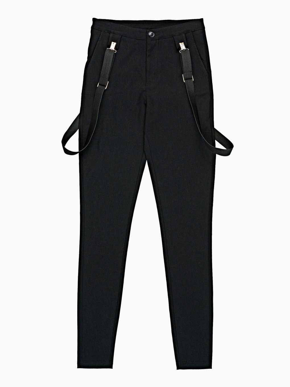 SKINNY TROUSERS WITH SUSPENDERS