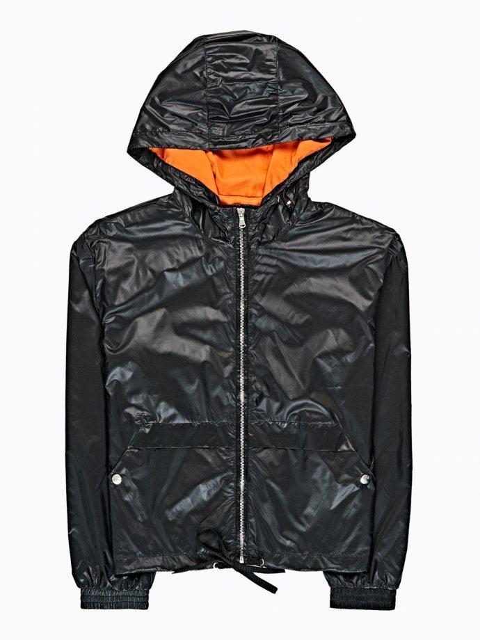 Nylonová bunda s kapucňou