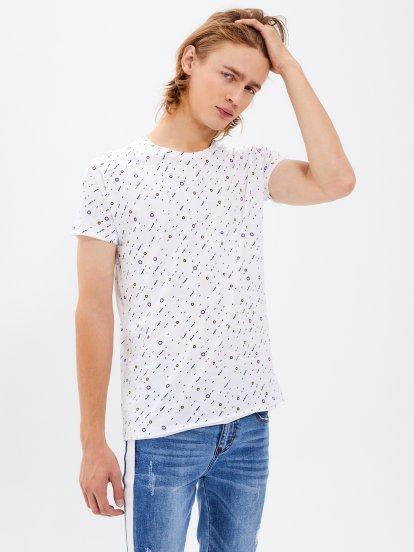 Koszulka slim fit z nadrukiem