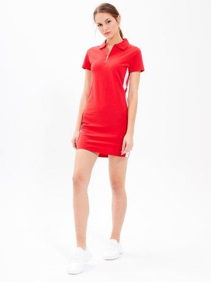 Ołówkowa sukienka mini z zamkiem