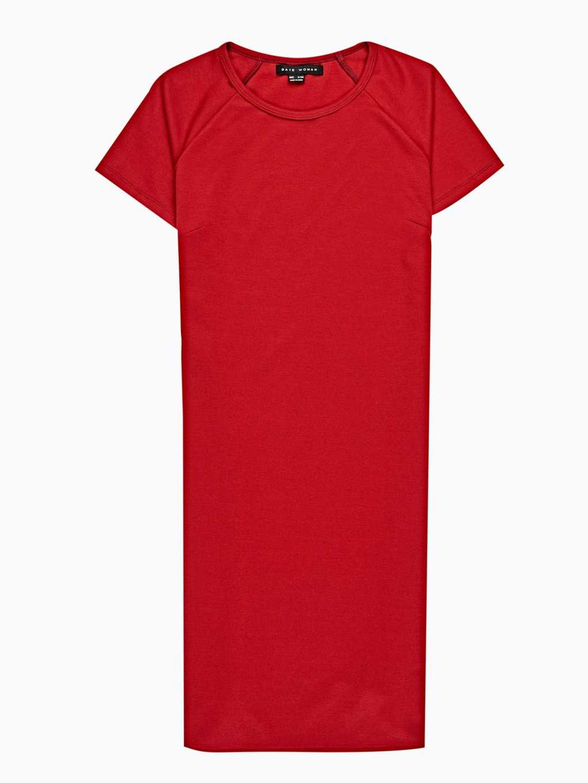 T-SHIRT DRESS WITH SIDE ZIPPER