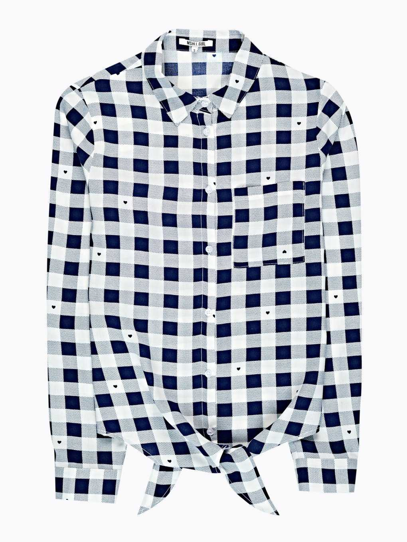 Kostkovaná košile s uzlem